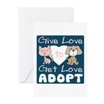 Give Love to Get Love Greeting Cards (Pk of 20)