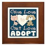 Give Love to Get Love Framed Tile