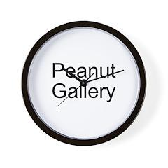 Peanut Gallery Wall Clock