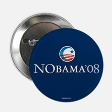"""NObama08 2.25"""" Button (10 pack)"""