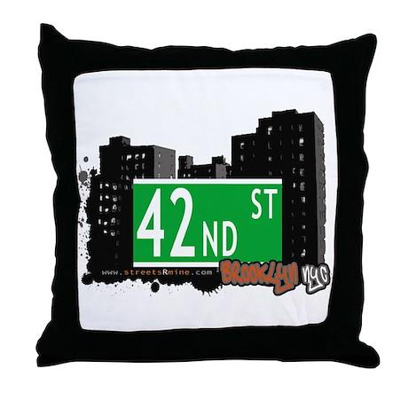 42nd STREET, BROOKLYN, NYC Throw Pillow