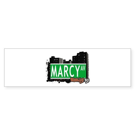 MARCY AV, BROOKLYN, NYC Bumper Sticker