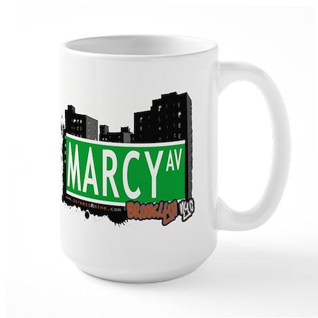 MARCY AV, BROOKLYN, NYC Large Mug