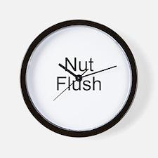 Nut Flush Wall Clock