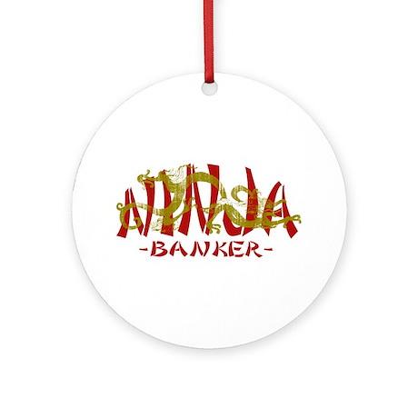 Dragon Ninja Banker Ornament (Round)