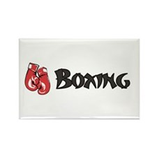 Boxing w-Gloves Rectangle Magnet