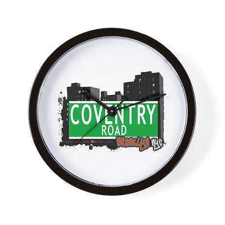 COVENTRY ROAD, BROOKLYN, NYC Wall Clock