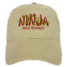 Dragon Ninja Bartender Baseball Cap