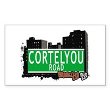 CORTELYOU ROAD, BROOKLYN, NYC Rectangle Decal