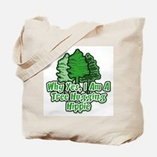 Tree Hugging Hippie Tote Bag