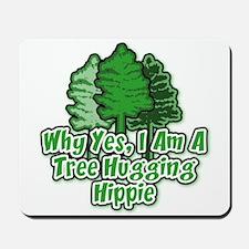 Tree Hugging Hippie Mousepad
