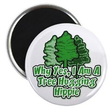 Tree Hugging Hippie Magnet