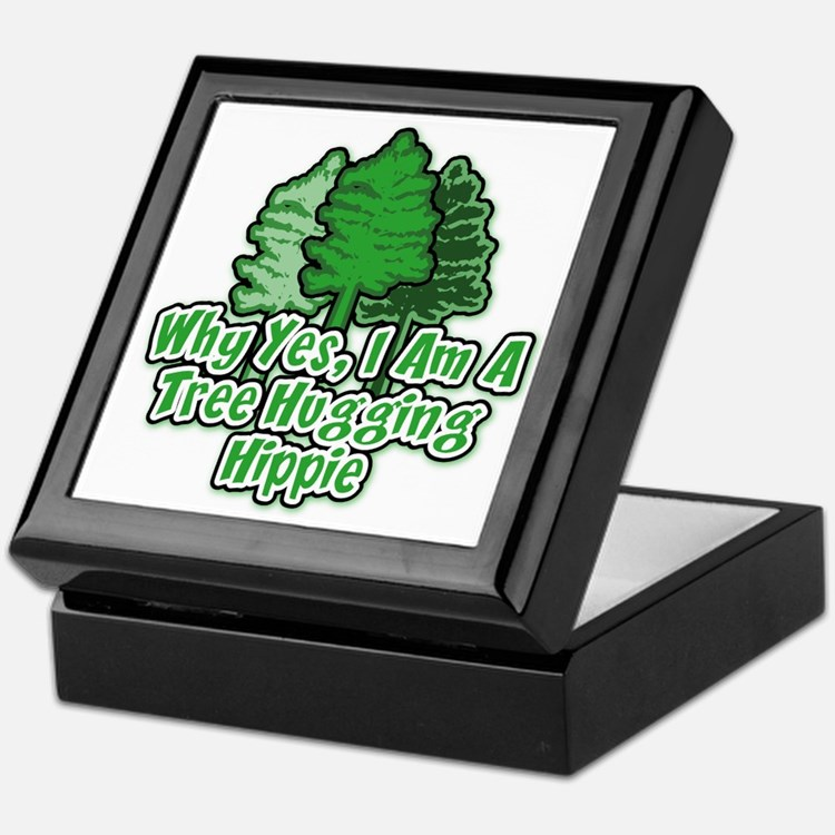 Tree Hugging Hippie Keepsake Box