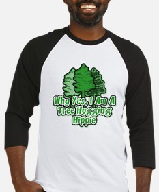 Tree Hugging Hippie Baseball Jersey