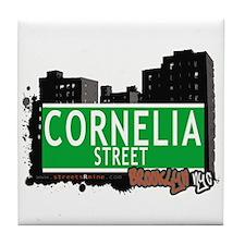 CORNELIA STREET, BROOKLYN, NYC Tile Coaster