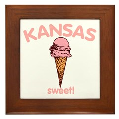 Kansas - Sweet! Framed Tile