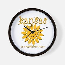 Kansas - Happy Sunflower Wall Clock