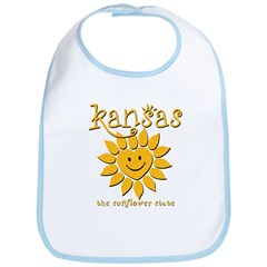 Kansas - Happy Sunflower Bib