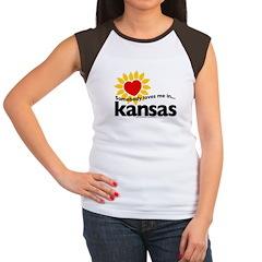 Somebody Loves Me In Kansas! Women's Cap Sleeve T-