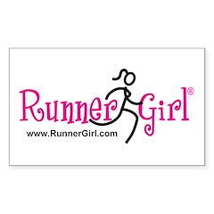 Runner Girl Rectangle Sticker 50 pk) PBU