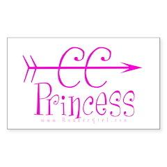 CC Princess Rectangle Sticker 10 pk) PKU