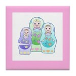 Russian Dolls Tile Coaster