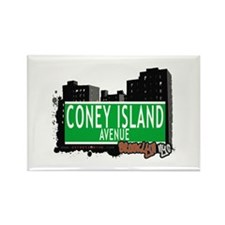 CONEY ISLAND AVENUE, BROOKLYN, NYC Rectangle Magne
