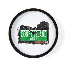 CONEY ISLAND AVENUE, BROOKLYN, NYC Wall Clock