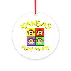 Kansas - Flying Mokeys (Square) Ornament (Round)
