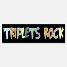 Triplets Rock - Bumper Bumper Bumper Sticker