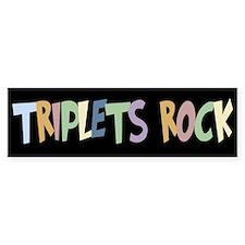 Triplets Rock - Bumper Car Sticker