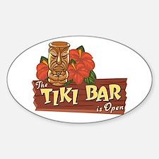 Tiki Bar is Open II - Oval Decal