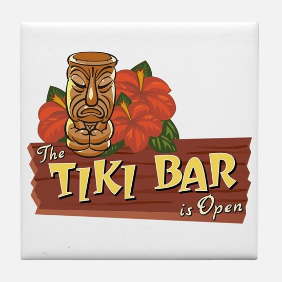 Tiki Bar is Open II - Tile Coaster