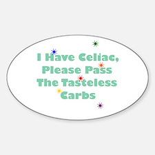 I Have Celiac Oval Decal