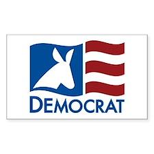 Democratic Flag Rectangle Decal