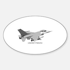 F-16 Falcon Oval Decal