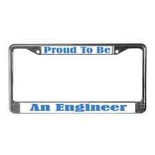 Proud Engineer License Plate Frame