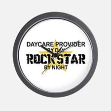 Daycare Provider Rock Star Wall Clock