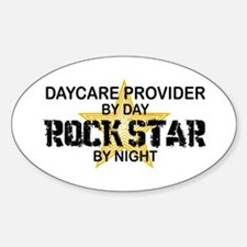 Daycare Provider Rock Star Oval Decal