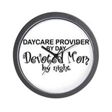 Devoted Mom Daycare Provider Wall Clock