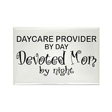 Devoted Mom Daycare Provider Rectangle Magnet