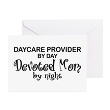 Devoted Mom Daycare Provider Greeting Cards (Pk of
