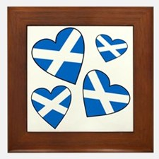 Four Scottish Hearts Framed Tile