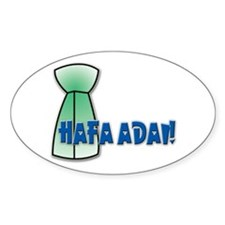 Hafa Adai! Oval Decal