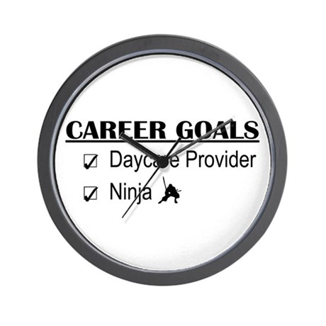 Daycare Provider Career Goals Wall Clock