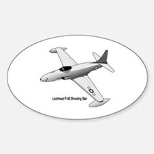 F-80 Shooting Star Oval Decal