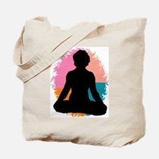 Lotus Pose Yoga Tote Bag