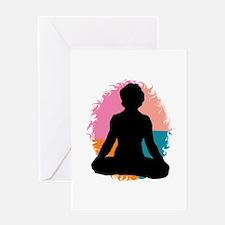 Lotus Pose Yoga Greeting Card