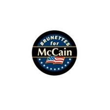 Brunettes for McCain! Mini Button