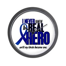 Never Knew A Hero 2 Blue (Uncle) Wall Clock